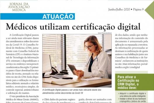 Médicos utilizam certificação digital
